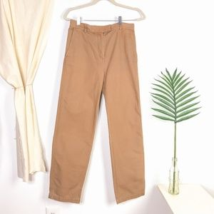 COS High Rise Straight Leg Chino Trousers in Camel